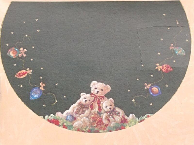 Candamar Designs Felt Applique Christmas Tree Skirt A Very Beary Christmas 85005