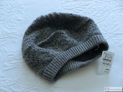Beret ~ Cashmere Pointelle from Neiman Marcus ~ Smoke Gray Pointelle Beret