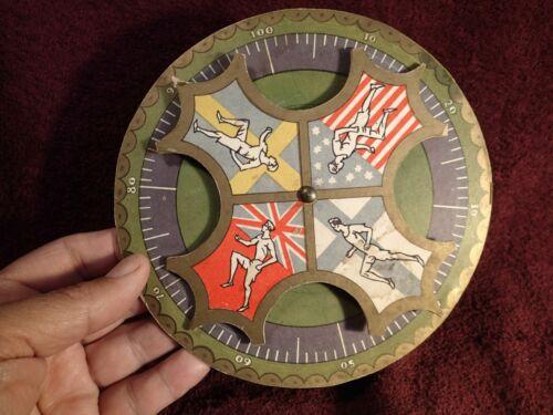 UNIQUE 1940-s (ca 1945-48) BOARD GAME SPORT ROULETTE US , GB , FINLAND , SWEDEN