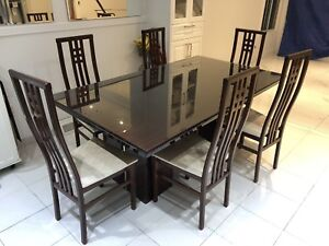 Beautiful wood lacquer dining set