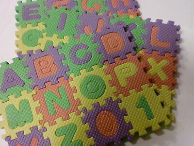 50 Eva Mini English Alphabet Soft Puzzle Playmat Foam Floor Mat Baby Wholesale