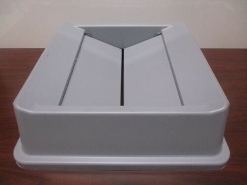 New Rubbermaid 2664 Untouchable Swing Top Square Trash Can Lid, Gray