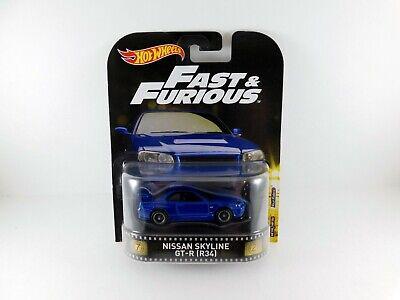 Hot Wheels Fast & Furious Nissan Skyline GT-R (R34) Blue Entertainment