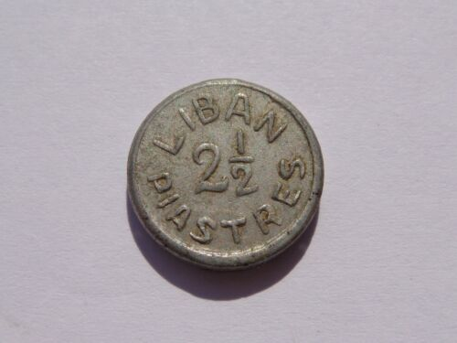 1941 (WWII) LEBANON ALUMINUM 2 1/2 PIASTRES XF VERY NICE! MUST SEE!!