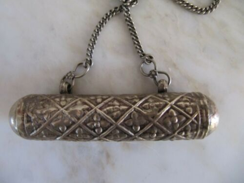 Antique Necklace, - non silver -  Taviz, Rajasthan Islamic  Prayer Box