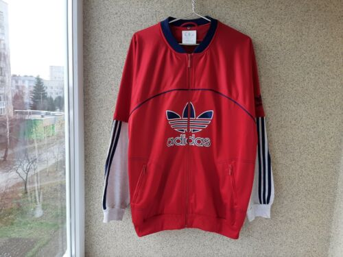 Adidas Basketball Training Jacket West Germany Red Size 2XL Vintage Big LOGO