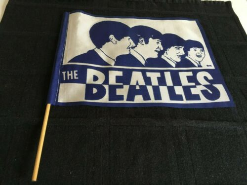 Beatles Original 1966 Cleveland Concert Pennant/Flag W/ Stick