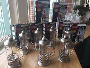 7 coffee & tea plungers, stainless steel Frankston South Frankston Area Preview