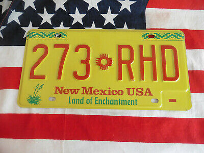 US NEW MEXICO 273 RHD AUTO CAR KENNZEICHEN NUMMERNSCHILD SCHILD PLATE TAG USA I