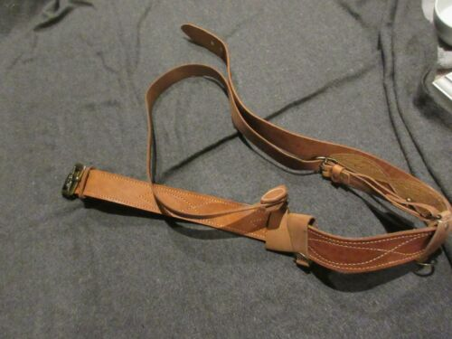REPRODUCTION RUSSIAN WW2 OFFICERS LEATHER SAM BROWNE BELT SOVIET COMMUNIST