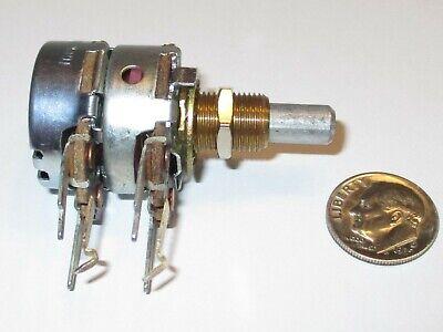 50k Ohm Dual Audio Taper 2 Watt Potentiometer Cts - U.s.a. 1 Pcs. Nos