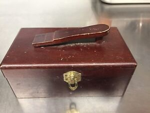 Antique shoeshine box