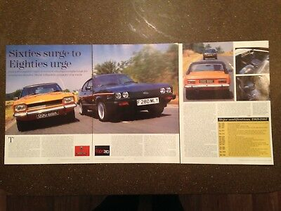 FORD CAPRI 3000 GT vs CAPRI 280  - Classic Twin Test Article - Classic Cars 1996