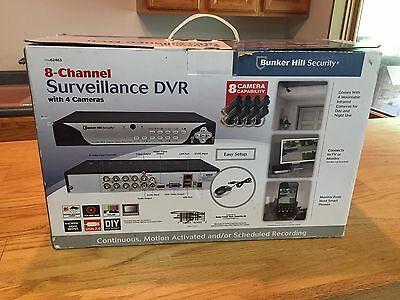 8 Channel Security Surveillance Dvr W  4 Cameras Mobile Monitor Nib Bunker Hill