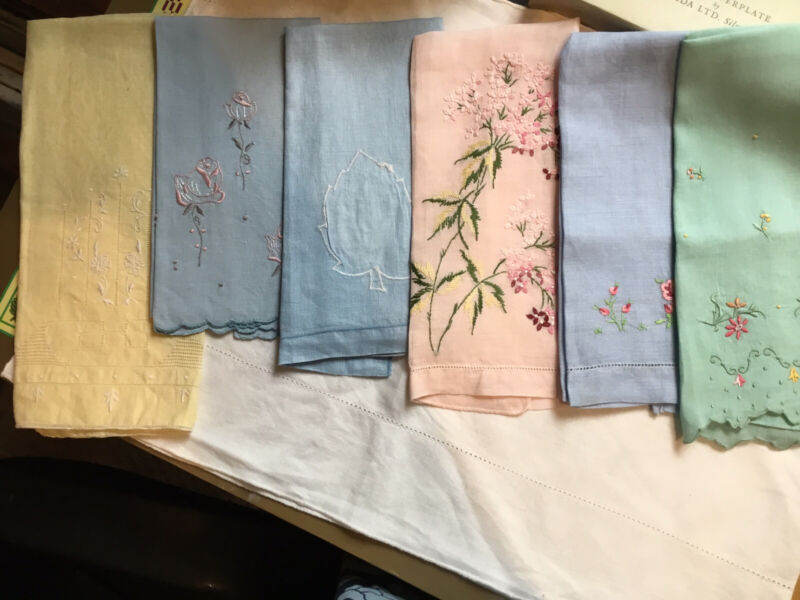 6 Antique Hand Towels