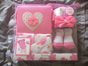 New in box - 4 piece baby girl gift set