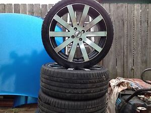 18/7 inch mag and tyres to suit 323 Mazda astina Whalan Blacktown Area Preview