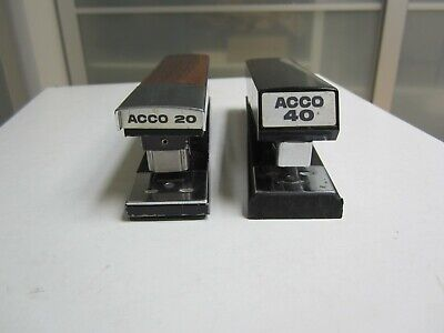 2 Vintage Acco Staplers 1 40 And 1 20