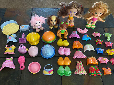 FISHER PRICE SNAP N STYLE MEGA LOT W/ 2 DOLLS, 2 PETS, BABY, OUTFITS 40+PIECES