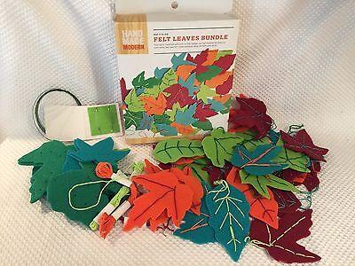 Hand Made Modern - Fall Harvest Felt Leaves - Assorted Colors Shapes  Felt Shape Assortment