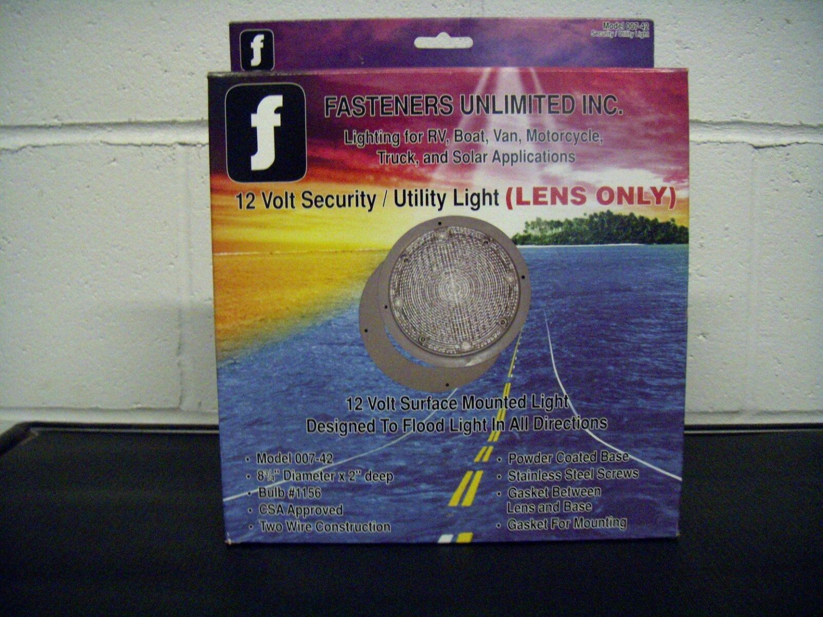 FASTENERS UNLIMITED 89257 12V SECURITY/UTILITY LIGHT REPLACEMENT LENS