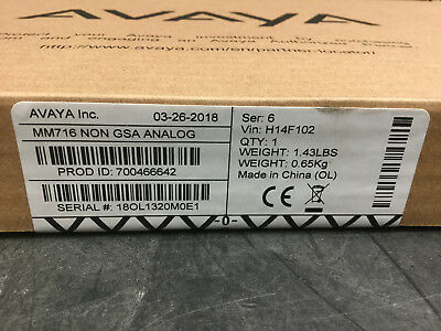 Avaya Mm716 Analog Media Module 700466642 New