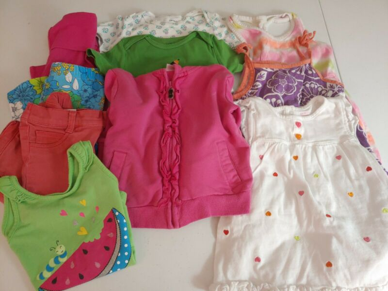 Girls Size 2t 24 Months Lot Of 10 Pc Shirts Pants Short  Jacket Old Navy Carter