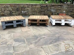 Pallet Coffee Table Shabby Chic Upcycled Industrial Reclaimed Wood