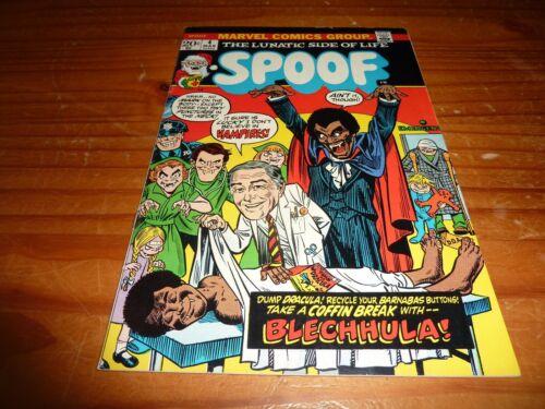 SPOOF #4 MARVEL COMICS 1973 FN+ 6.5 BLECHHULA!