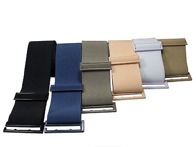 Lady Invisible Belt - Web Canvas Elastic Adjustable Skinny No Show Belt