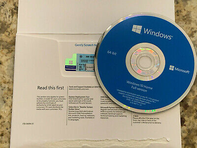 Microsoft Windows 10 Home x64 bit & Genuine Product Key Sticker NEWEST VERSION