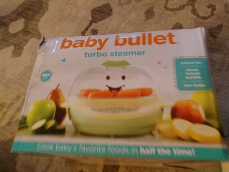 Magic Bullet steamer and  BABY BULLET Storage Pieces Tray Cups