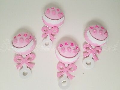 10 Baby Shower Pink Foam Rattles Party Decorations its a Girl Favors Prizes Gift (Baby Rattle Favors Baby Shower)