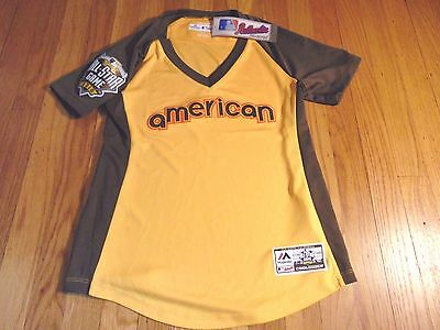 NEW WOMEN'S MAJESTIC FAN FASHION MLB AUTHENTIC AL ALL-STAR JERSEY SIZE S padres