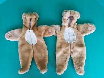 American Girl Doll BITTY BABY TWINS 2 Teddy Bear Halloween Costumes Retired (Baby Twin Halloween Costumes)