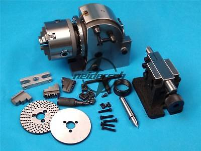 New Bs-0 Eco Precision Dividing Head With 5 3-jaw 125mm Chuck Tailstock