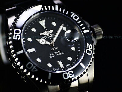 Invicta Mens 43mm Pro Diver Swiss Made Automatic Gunmetal IP Sapphire 300M Watch Diver Swiss Made Watch