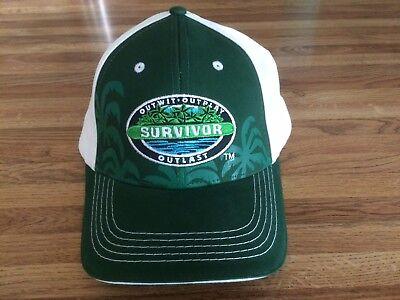 Survivor Logo Green Cbs Baseball Hat Cap New Jeff Probst Outwit Outplay Outlast
