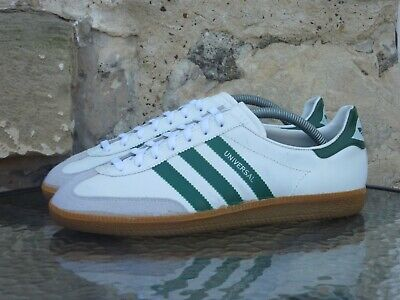 Vintage 1980s Adidas Universal UK 8.5 Made In West Germany OG White Green Police