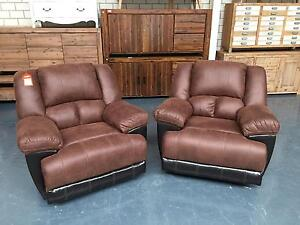 CHASER - recliner and rocker - suede Leumeah Campbelltown Area Preview
