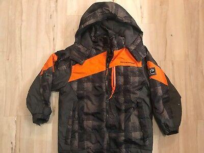 Weather Proof Big Boys Winter Cold Weather Black Jacket Coat Zip Up Sz Small