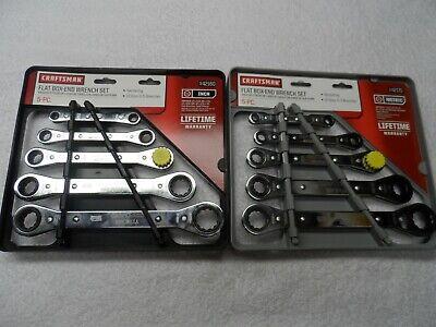 Craftsman Flat Ratcheting Box-End Wrench Set, SAE / Metric MM, made USA - 10 pcs ()