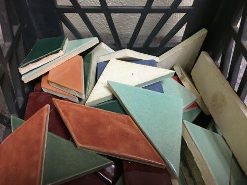 Large Lot of Vintage NOS Tiles-Bright Colors