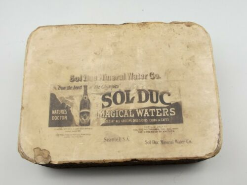 Antique Lithographic Stone Printing Block Litho Sol Duc Mineral Waters Seattle