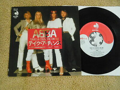 Abba  - Take A Chance On Me/I'm A Marionette -  Japanese Picture Sleeve PS 7""