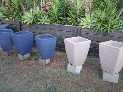 LARGE RIPPLE TERRACOTTA POTS  Wavell Heights Brisbane North East Preview