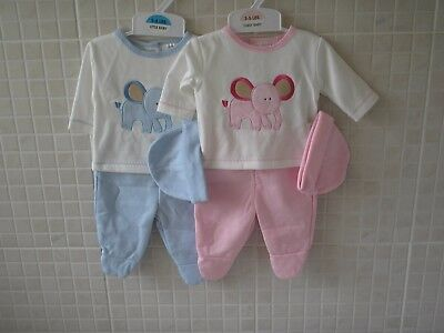Premature Baby Clothes Preemie Tiny 3 piece set boy girl 3-5lb 5-8lbs pink blue