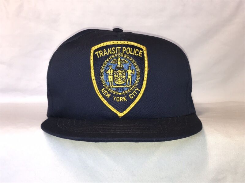 Vintage New York City Transit Police Hat Cap Snapback Hat Made In The USA