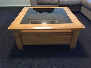 Glass topped Coffee Table with 2 drawers Beeliar Cockburn Area Preview
