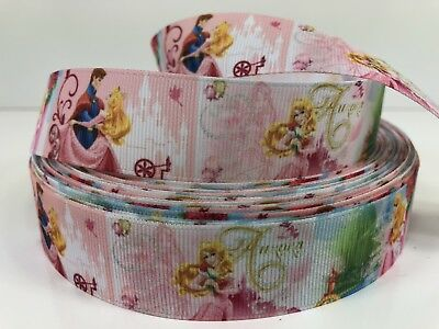 Aurora The Princess (By The Yard 1 Inch Disney Princess Aurora Prince Phillip Grosgrain Ribbon)